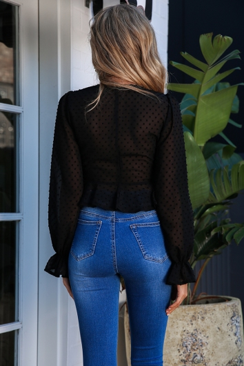 On The Luna Top - Black
