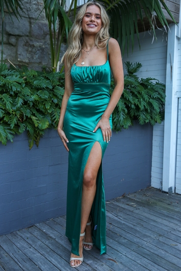 new design new arrival wide range Dining Out Dress - Emerald Green