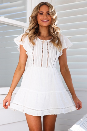 Riptide Dress - White