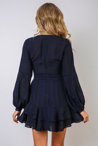 Fly With Me Dress - Navy