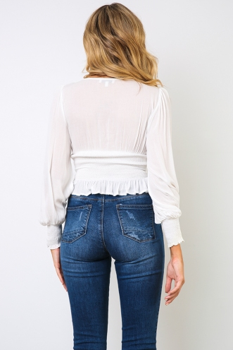 Kylah Top - White