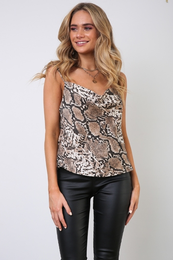 All About Me Top - Snake Print