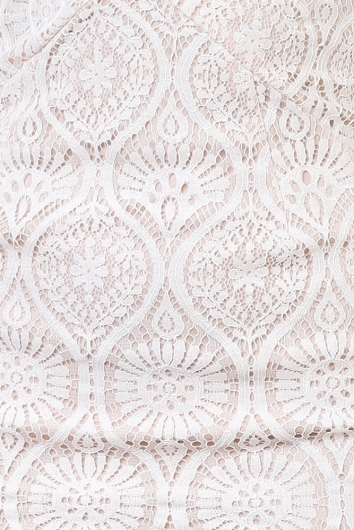 Alina Dress - Beige/White Lace