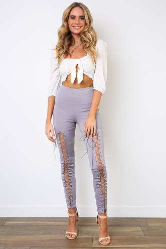 Biker Chick Pants - Grey