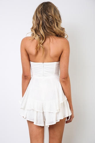 Falling For You Playsuit - White