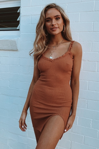 Layla Dress - Tan