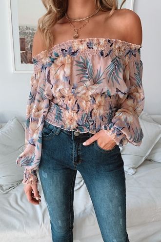 Day Dreamer Top - Pink Print