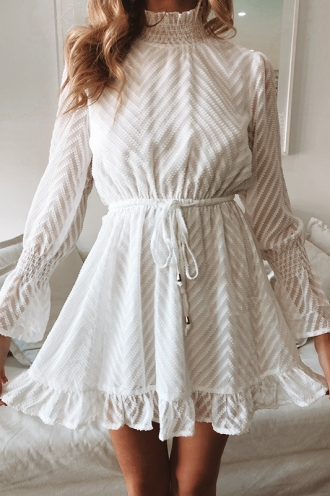 Sienna Dress - White Texture