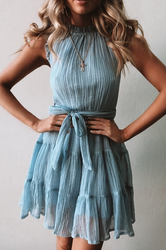 Delilah Dress - Light Blue