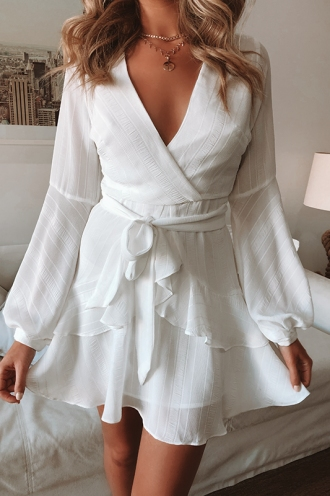 Fly With Me Dress - White