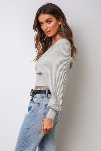 Ainsley Top - Grey
