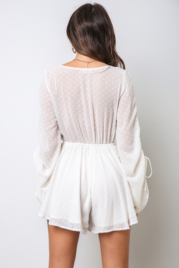 Deidre Playsuit - White