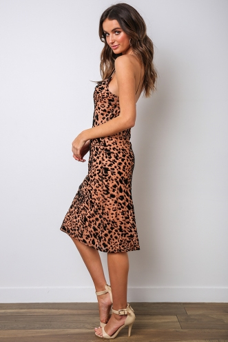 Lucinda Dress - Leopard Burnout