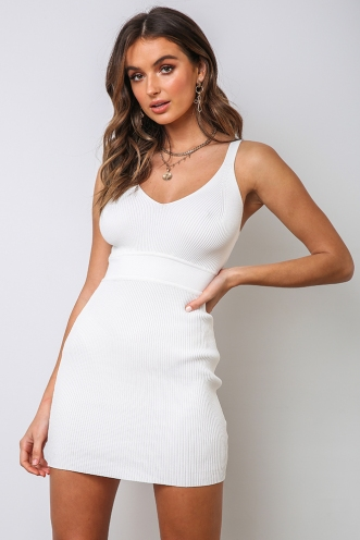 Kendra Bodycon Dress - White