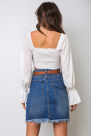 Kelly Crop Top - White