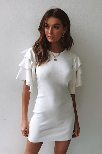 Downtown Dress - White