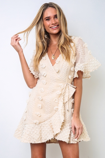 Penelope Spring Dress - Nude