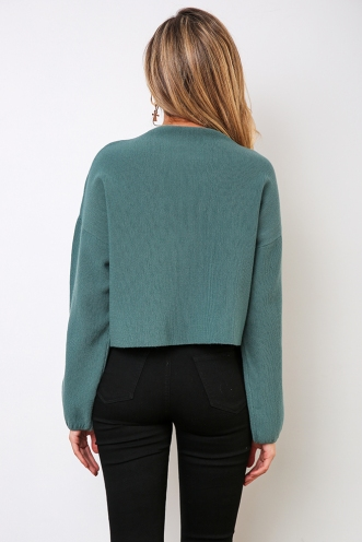 Raw Beauty Jumper - Sage