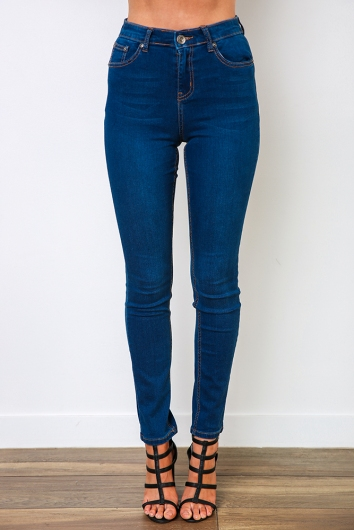 Lady skinny leg jeans - Blue Denim