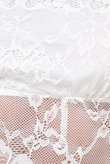 Amber Lace Bodysuit - White