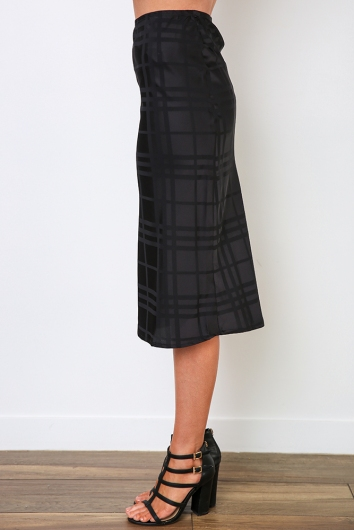 Aleesha Skirt - Black Check