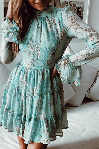 Kyla Dress - Mint Print