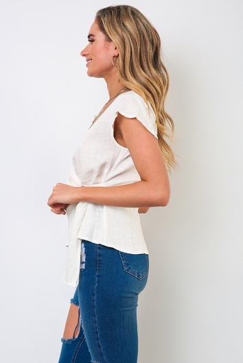 Natural Wonders Top - White