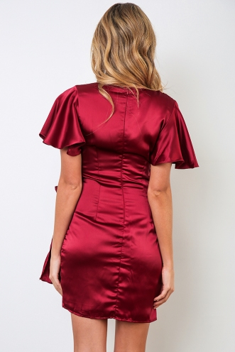 Run The Town Dress - Maroon