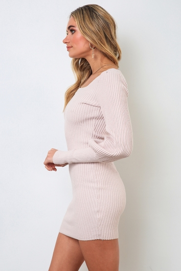 Karla Dress - Nude