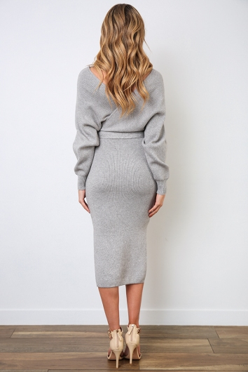 Genny Dress - Grey