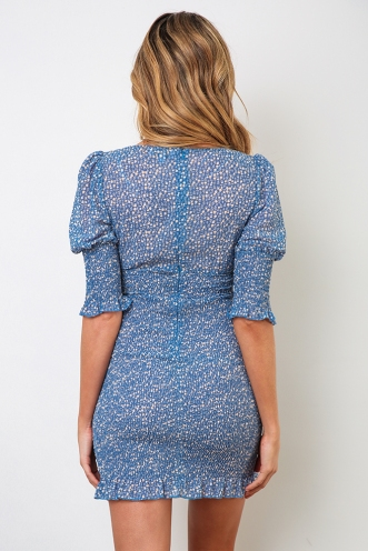 Kobi Dress - Blue Print