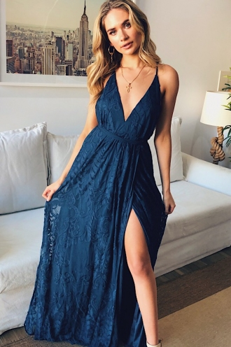 Laila Dress - Navy Lace