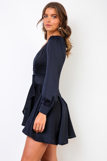 After Dark Dress - Navy