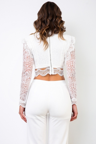 Briar Long Sleeve Top - White