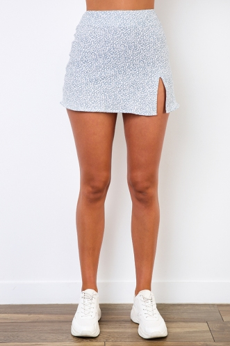 Britney Skirt - Grey Print