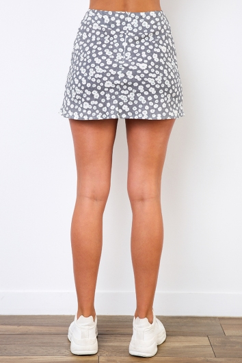 Britney Skirt - Grey Floral