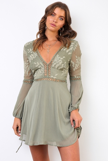 Made With Love Dress - Olive