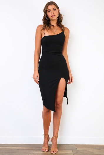 For Now Dress - Black