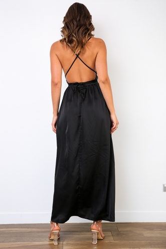 Kiki Evening Gown - Black/Beige