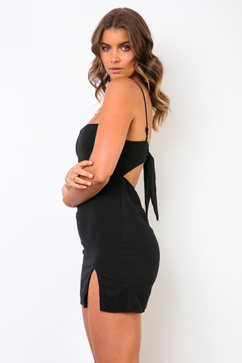 Swept Away Dress - Black
