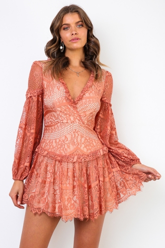 Brave Heart Dress - Rose Lace
