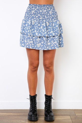 Current Joy Skirt - Blue Floral