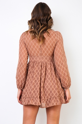 Winks Dress - Brown