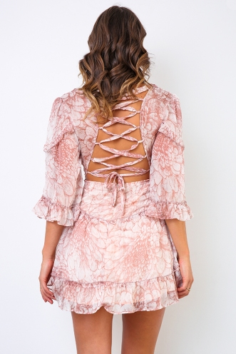 Brave Heart Dress - Blush Print