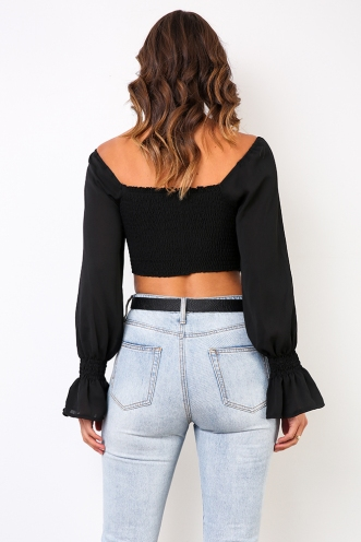Kelly Crop Top - Black
