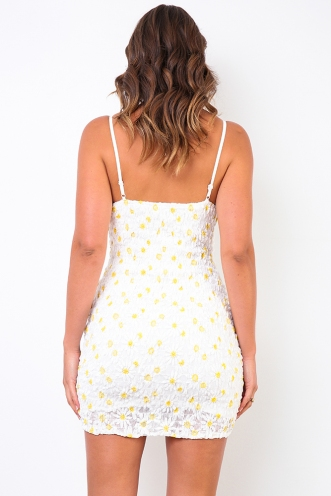 Field Of Flowers Dress - White Floral