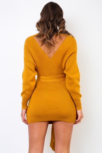 Eyes Wide Open Dress - Mustard