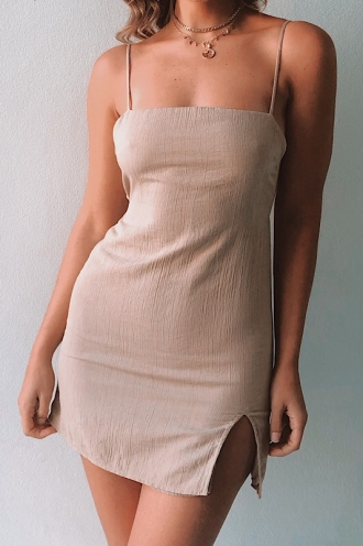 Swept Away Dress - Beige