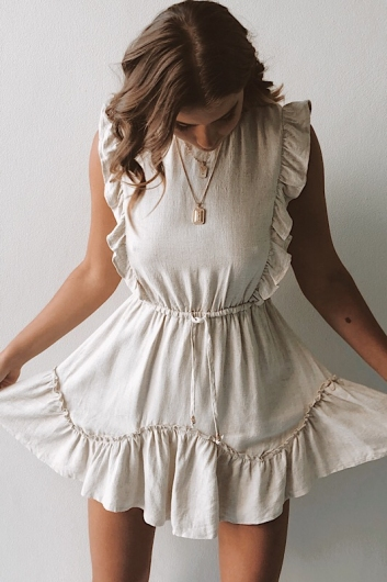 All I Need Is You Dress - Beige