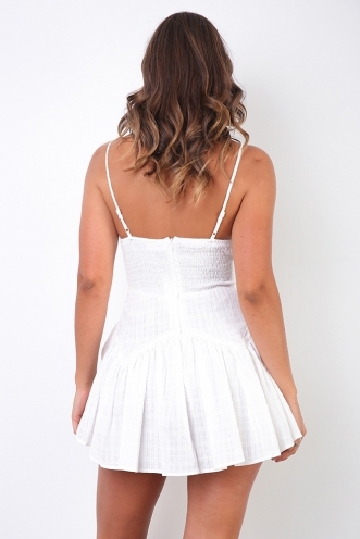 Cathy Playsuit - White